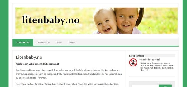 blogg om amming oppdragelse litenbaby