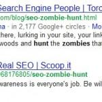 Bilde av blogger i Google søk