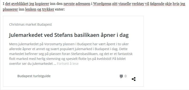 Slik ser det ut i Wordpress