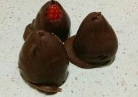 Sjokoladetrekte jordbær