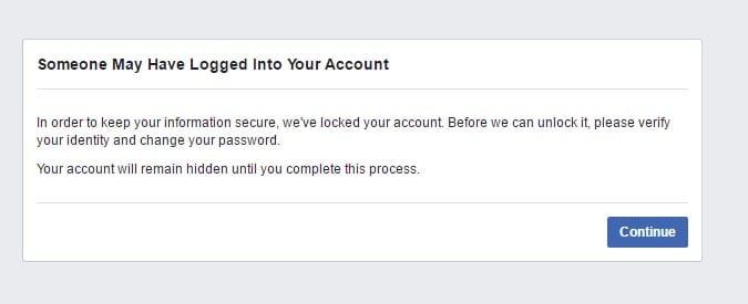 Falsk Facebook profil