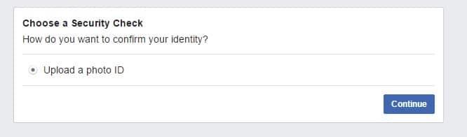 Sikkerhetssjekk for Facebook ved falsk id
