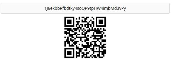 Her er adressen jeg brukte for å overføre Bitcoin fra CoinBase til Bitconnect.co.