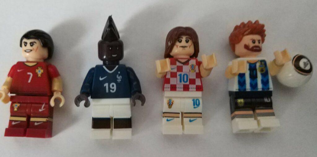 Ronaldo, Pogba, Modric og Messi som Lego-figurer fra Kina