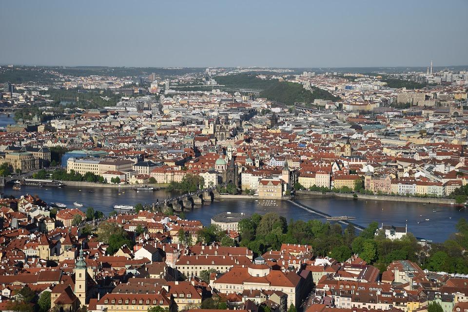 Utsikt fra Petrin tårnet